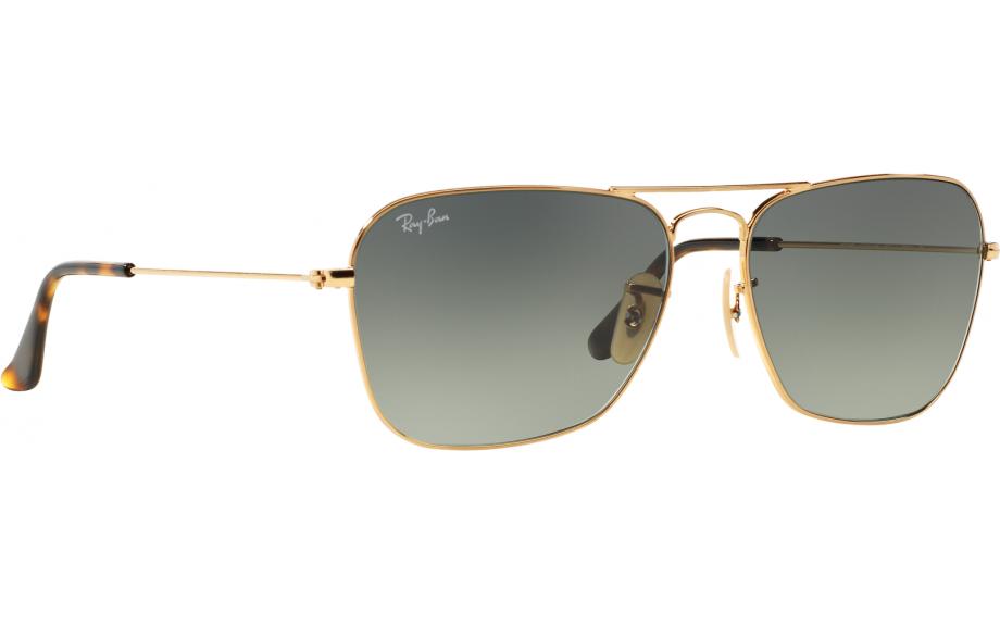 Ray-Ban Caravan Sonnenbrille Gold 181 55mm cdhny9Fe